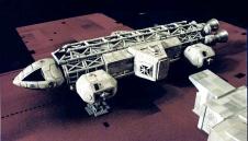 Aquila Uno, con il particolare segmento mediano, sulla piattaforma di decollo